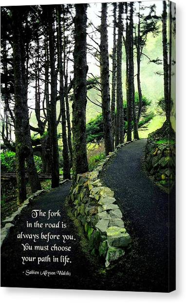 Fork In The Road Canvas Print by Mike Flynn