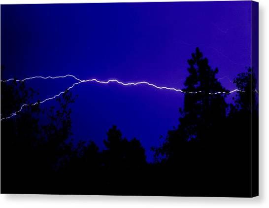 Forked Lightning Canvas Print by Alfredo Martinez