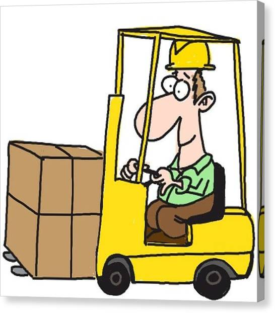 Forklifts Canvas Print - #forklift #drawsomething by Michelle Cronin