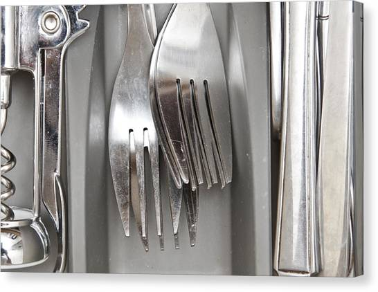 Drawers Canvas Print - Forks by Tom Gowanlock