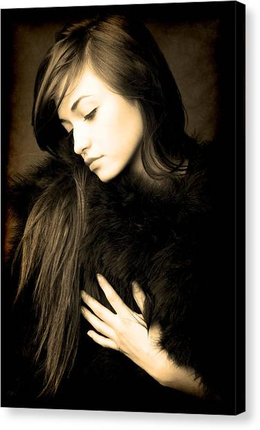 Forlorn Woman Canvas Print