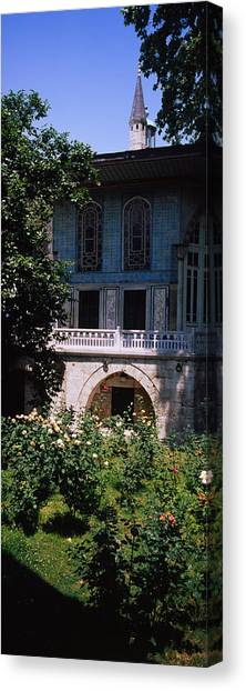 Baghdad Canvas Print - Formal Garden In Front Of A Building by Panoramic Images