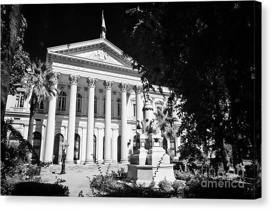 former national congress building Santiago Chile Canvas Print by Joe Fox