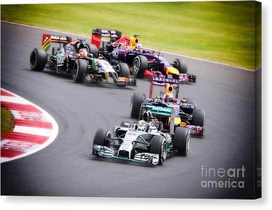 Formula 1 Grand Prix Silverstone Canvas Print