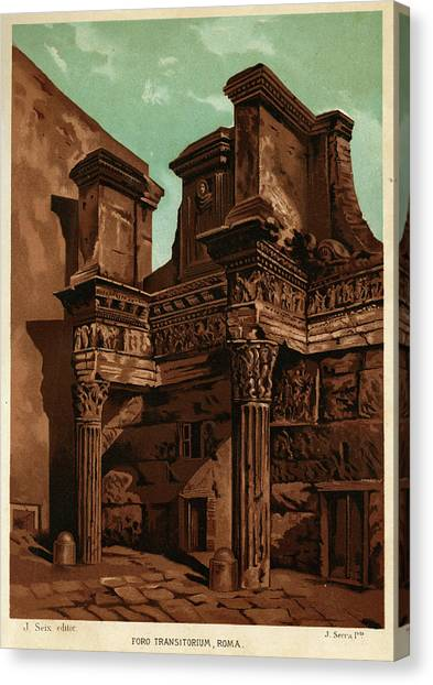 Foro Transitorum     Date 1891 Canvas Print by Mary Evans Picture Library