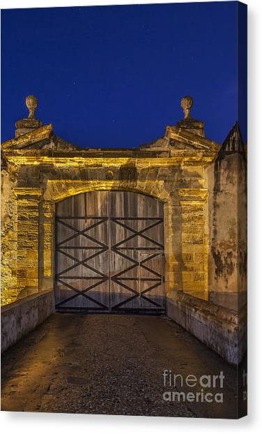Canvas Print featuring the photograph Fort Castillo San Cristobal Inpuerto Rico by Bryan Mullennix