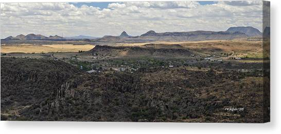 Fort Davis From Davis Mountains State Park Canvas Print
