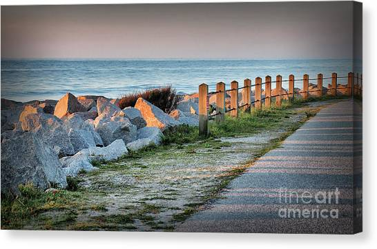 Fort Fisher Rocks At  Sunrise Canvas Print