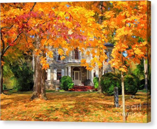 Fort Hunter Autumn Canvas Print