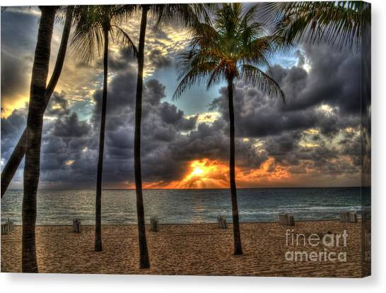 Fort Lauderdale Beach Florida - Sunrise Canvas Print
