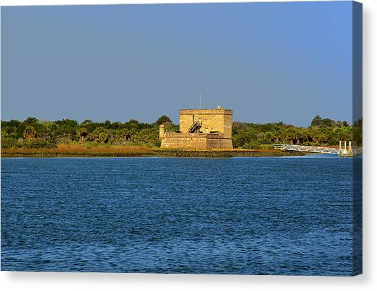 River Scenes Canvas Print - Fort Matanzas - Saint Augustine Florida by Christine Till