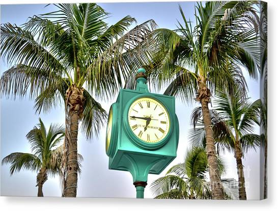 Fort Myers Beach Florida Times Square 3 Canvas Print