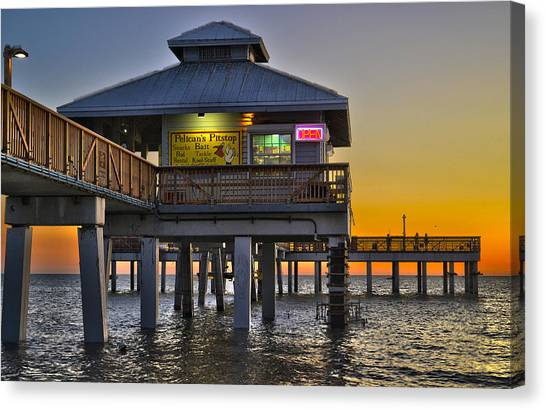 Fort Myers Beach Pier 4 Canvas Print