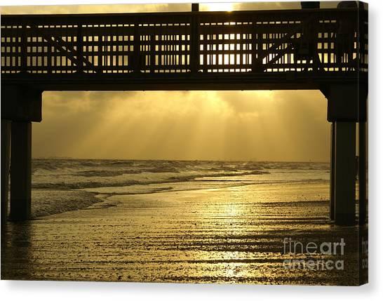 Fort Myers Golden Sunset Canvas Print