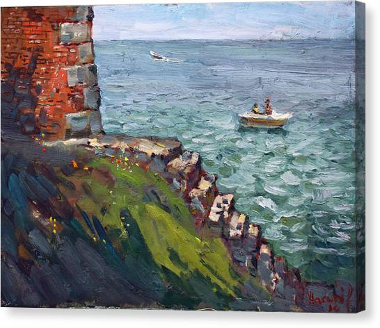 Ontario Canvas Print - Fort Niagara By Lake Ontario by Ylli Haruni