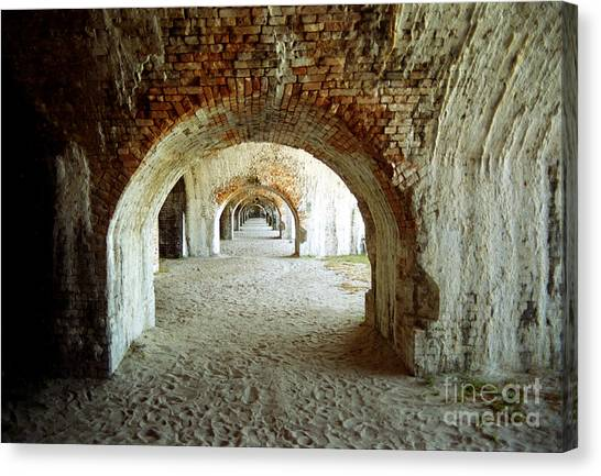 Fort Pickens Arches Canvas Print