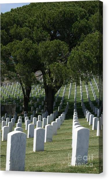 Fort Rosecrans National Cemetery Canvas Print - Fort Rosecrans National Military Cemetery by Jacqueline Russell