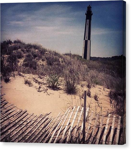Seagrass Canvas Print - Fort Story, Va - Blown Over by Trey Kendrick