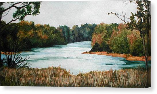 Fort Toulouse Coosa Tallapoosa River Canvas Print by Beth Parrish
