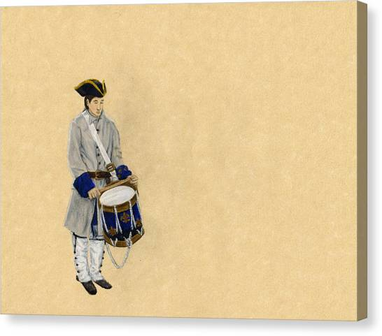 Fort Toulouse Drummer Boy Canvas Print by Beth Parrish