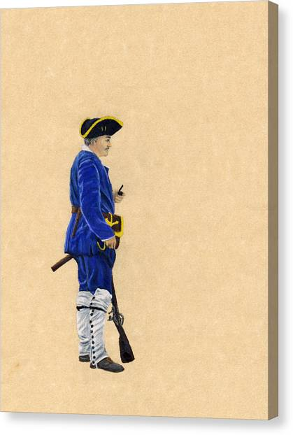 Fort Toulouse Soldier At Ease Canvas Print by Beth Parrish