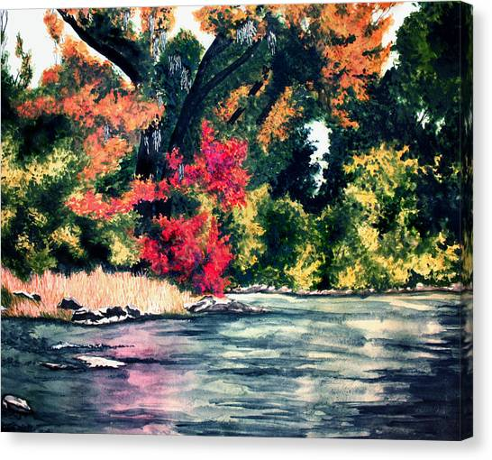 Fort Toulouse Tallapoosa River Flair Canvas Print by Beth Parrish