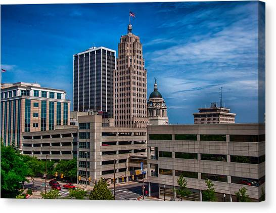 Fort Wayne Skyscrapers Canvas Print