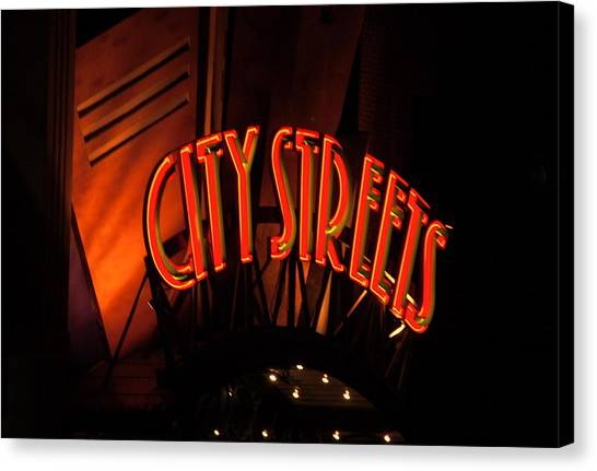Fort Worth City Streets Canvas Print