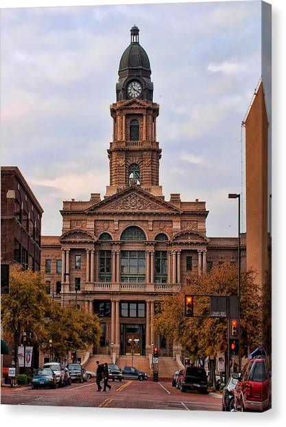 Fort Worth Courthouse Canvas Print