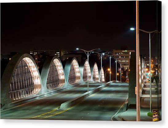 Fort Worth Seventh Street Bridge Oct 10 2014 Canvas Print