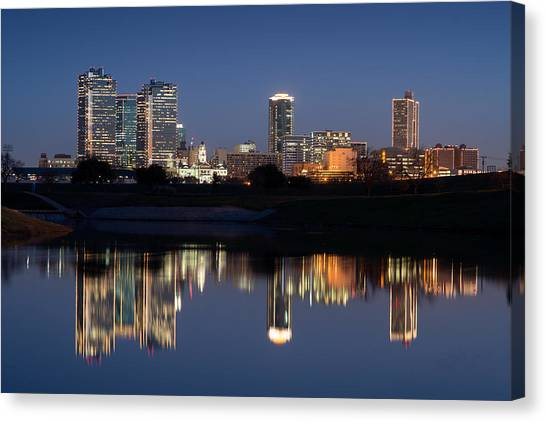 Fort Worth Skyline 020915 Canvas Print