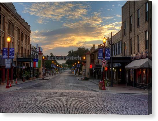 Fort Worth Stockyards Sunrise Canvas Print
