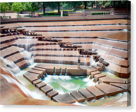 Fort Worth Water Garden V7 Canvas Print