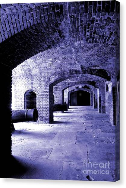 Fort Zachary Taylor2 Canvas Print by Claudette Bujold-Poirier