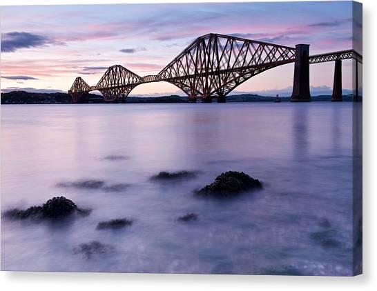 Forth Bridge At Sundown Canvas Print
