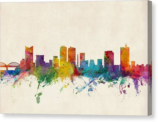 Universities Canvas Print - Fort Worth Texas Skyline by Michael Tompsett
