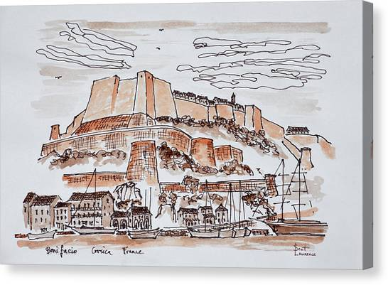 Scotty Canvas Print - Fortified City Of Bonifacio, Corsica by Richard Lawrence