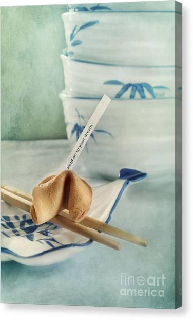 Chinese Restaurant Canvas Print - Fortune Cookie by Priska Wettstein