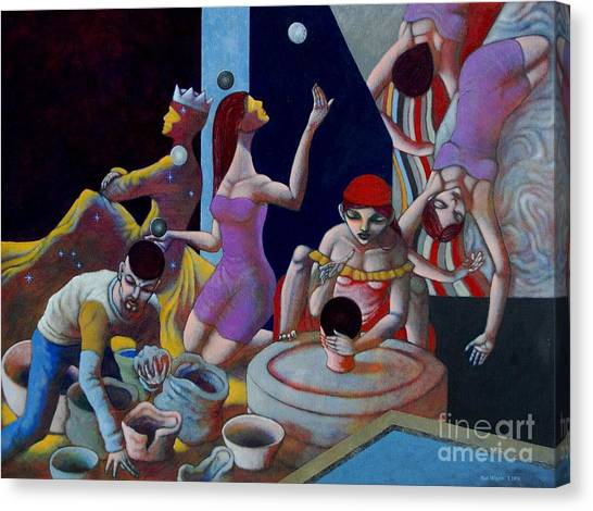 Clay Canvas Print - Fortune Sellers by Paul Hilario