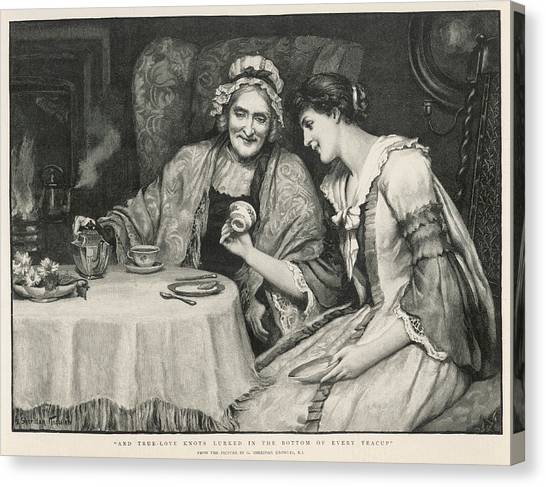 Tea Leaves Canvas Print - Fortune Teller, Reading Tea Leaves by  Illustrated London News Ltd/Mar