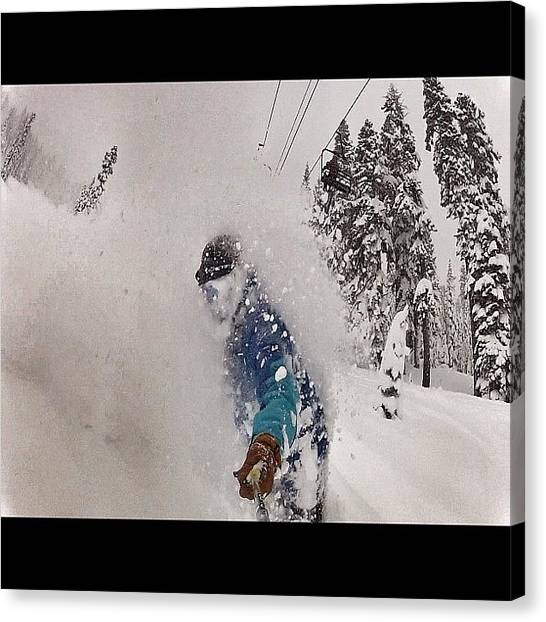 Snowboarding Canvas Print - Found A Few Pics On The #gopro From by Tim  Rantz