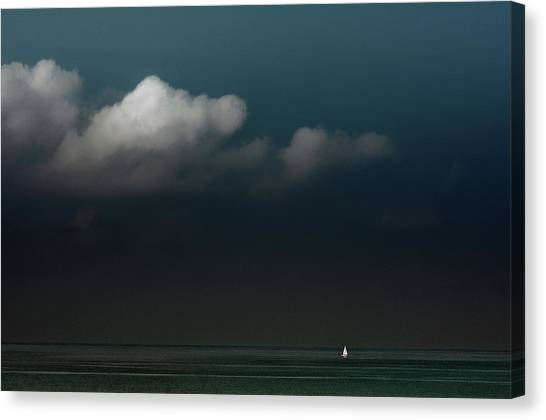 Sail Boats Canvas Print - Found Freedom by Gilbert Claes