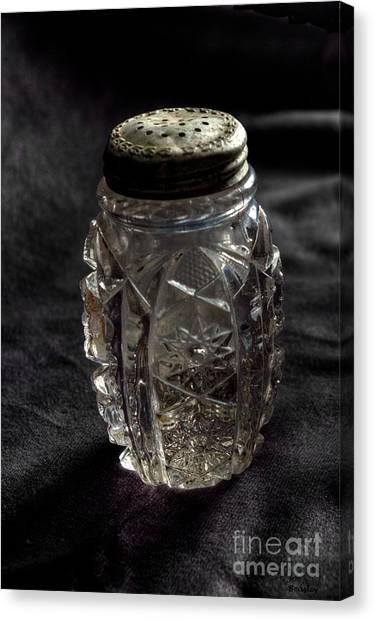 Found  Salt Shaker Canvas Print by   Joe Beasley
