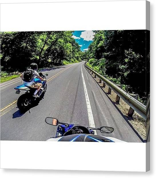 Suzuki Canvas Print - Found Some Awesome Roads To Ride On by Blaine Fissel