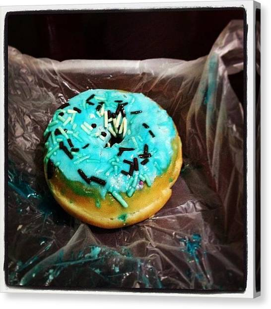 Doughnuts Canvas Print - Found This At Home. I Don't Know What by Tiffany Cortez