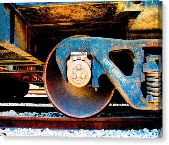 Trains Canvas Print - Foundation 2 by Wendy J St Christopher