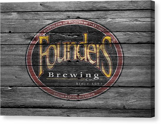 Beer Can Canvas Print - Founders Brewing by Joe Hamilton
