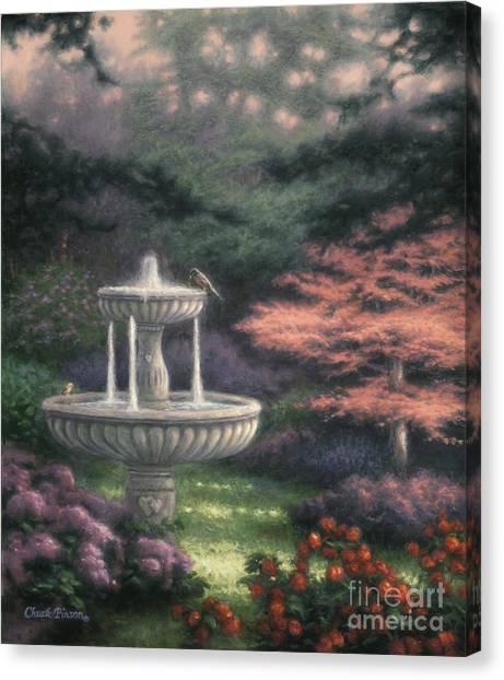 Fountain Canvas Print by Chuck Pinson