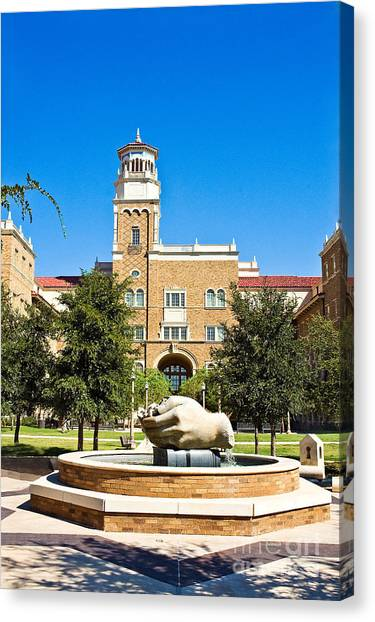 Canvas Print featuring the photograph Fountain Of Knowledge by Mae Wertz