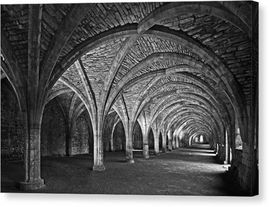 Fountains Abbey Cloister Canvas Print